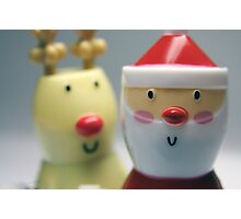 Santa & Rudolph Photographic Print