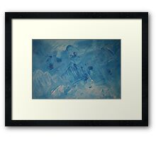 Smooth Blue (Abstract) Framed Print