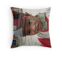 Red Zaou Throw Pillow