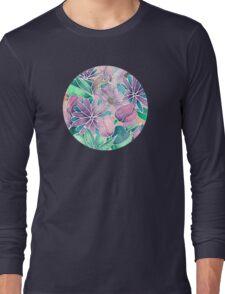 Blossoming - lilac, mint & aqua Long Sleeve T-Shirt