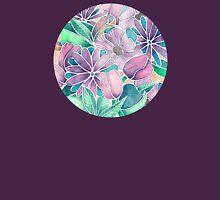 Blossoming - lilac, mint & aqua Womens Fitted T-Shirt
