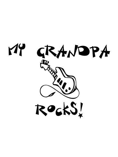 My Grandpa Rocks! Guitar by surgedesigns
