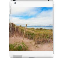 mesh wire fence at the maharees iPad Case/Skin