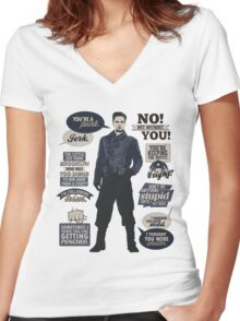 I'm Following Him Women's Fitted V-Neck T-Shirt