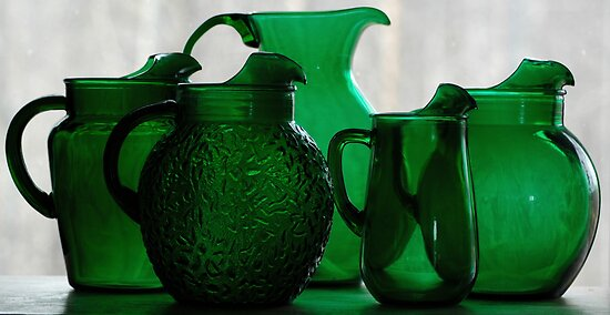 Forest Green Glass by KBSImages