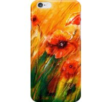 Flowers...Poppy Fields iPhone Case/Skin