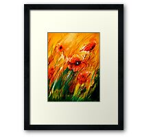 Flowers...Poppy Fields Framed Print