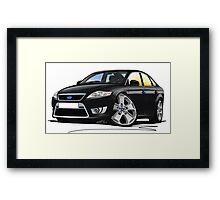 Ford Mondeo (Mk4) X Sport Black Framed Print