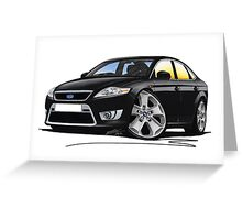 Ford Mondeo (Mk4) X Sport Black Greeting Card