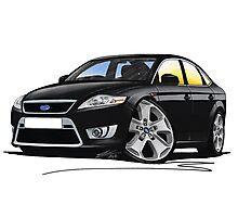 Ford Mondeo (Mk4) X Sport Black Photographic Print