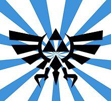 Zelda Triforce-Blue Laptop Skin, Mug, Travel Mug and Pillows by TomsTops