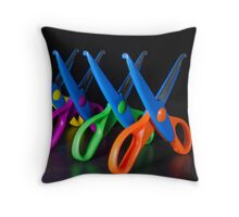 Snip! Throw Pillow