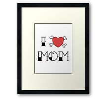 I (Love) Heart Mom Tattoo Framed Print