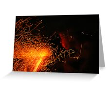 Fire blower Greeting Card