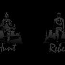 Hunt & Rebel - Blackout Edition (2-sided mug) by DJKopet