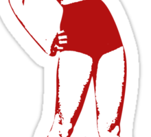 1950's Pin Up Girl T-shirt Sticker