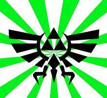 Zelda Triforce-Green Laptop Skin, Mug, Travel Mug and Pillows by TomsTops