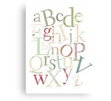 Vintage Alphabet Letters Canvas Print