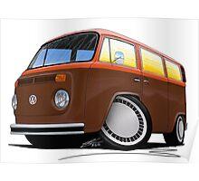VW Bay Window Camper Van (F) Poster