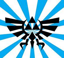 Zelda Triforce-Light Blue Laptop Skin, Mug, Travel Mug and Pillows by TomsTops