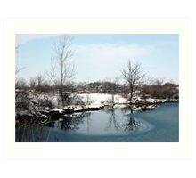 Scenic Winter Art Print