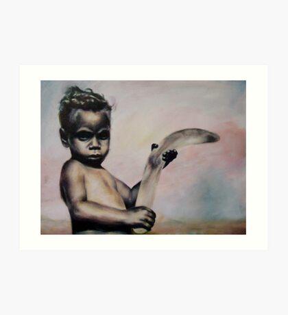Aboriginal Boy Art Print