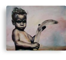 Aboriginal Boy Canvas Print
