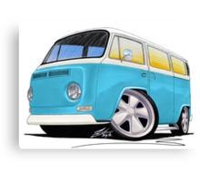 VW Bay Window Camper Van (E) Canvas Print