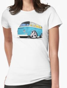 VW Bay Window Camper Van (E) Womens Fitted T-Shirt