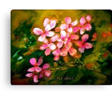 Flowers..Geranium Canvas Print