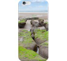 mud banks at Beal beach iPhone Case/Skin