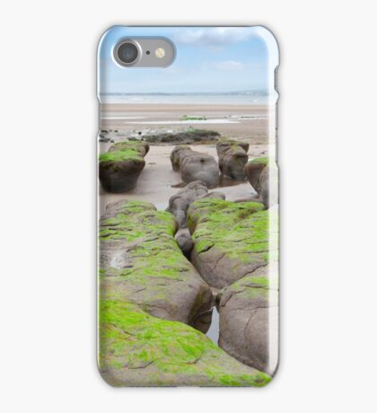 mud banks at Beal beach iPhone Case/Skin