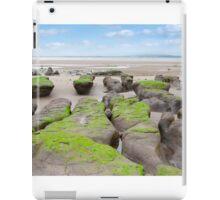 mud banks at Beal beach iPad Case/Skin