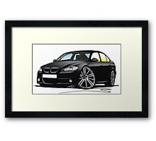 BMW 3-series (E90) Black Framed Print