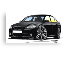 BMW 3-series (E90) Black Canvas Print