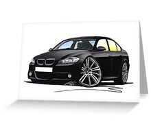 BMW 3-series (E90) Black Greeting Card