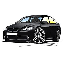 BMW 3-series (E90) Black Photographic Print