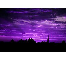 Purple Rays Photographic Print
