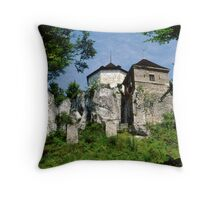 Old Castle Throw Pillow