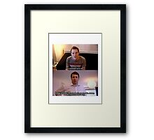 Welcome to the Real World Framed Print