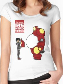 Big Hero Stark Women's Fitted Scoop T-Shirt