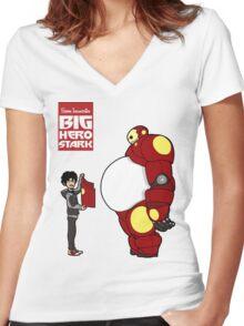 Big Hero Stark Women's Fitted V-Neck T-Shirt