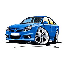 Vauxhall Vectra VXR Blue Photographic Print