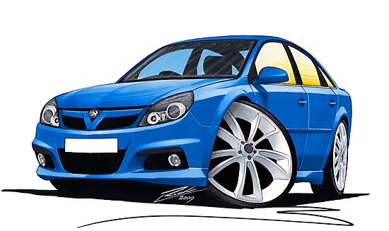 Vauxhall Vectra VXR Blue by Richard Yeomans