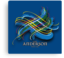 Anderson Tartan Twist Canvas Print