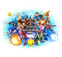 Smash Bros WII U King Size Duvet Cover-Other Sizes on my Page! (+Others!) by TomsTops