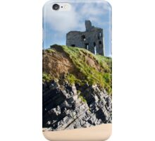 old historic Ballybunion castle on a cliff edge iPhone Case/Skin