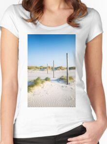 coastal dune Sankt Peter-Ording Women's Fitted Scoop T-Shirt