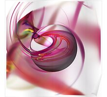 Abstract Red Globe Poster