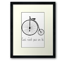 Dyke in bike Framed Print